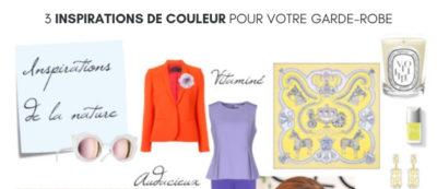 3 insprations de couleur pour votre garde-robe