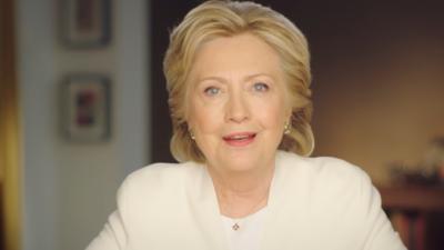 Hillary Clinton lors de la vidéo publiée le 7 novembre 2016, veille des élections présidentielles américaines.
