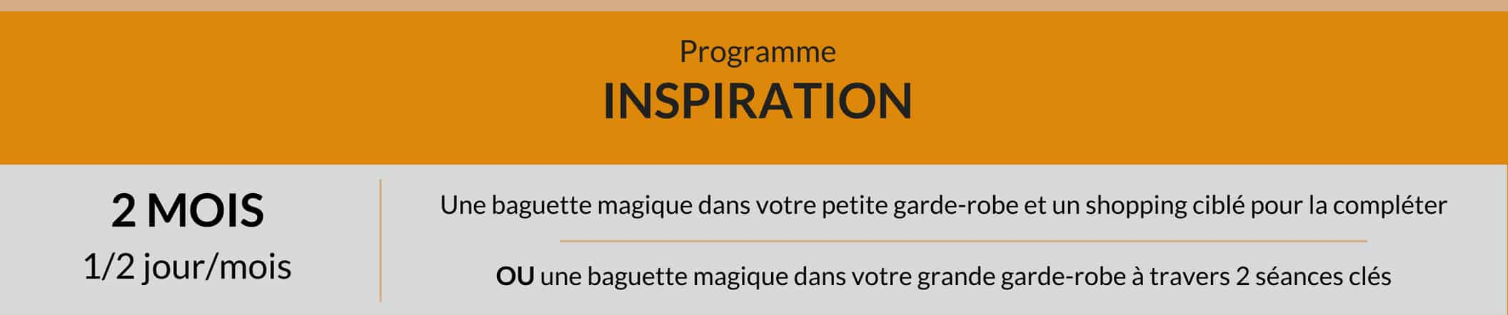 Programme Inspiration, conseil en style et accompagnement shopping