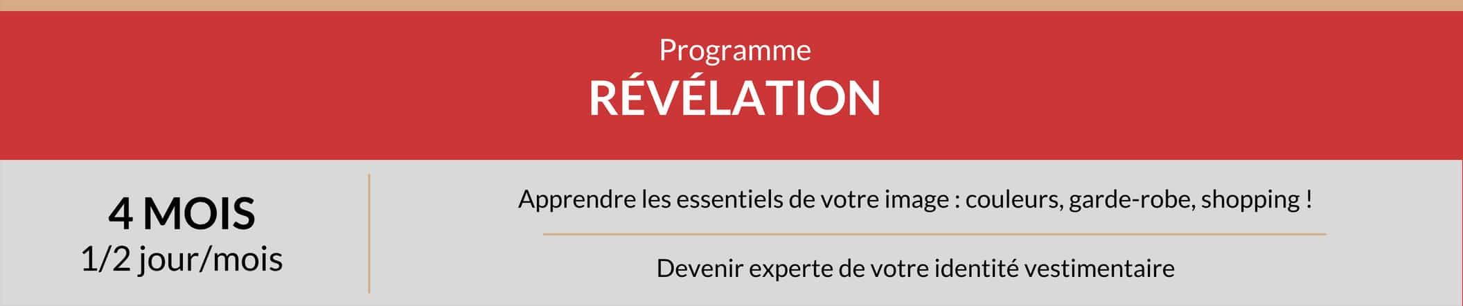 Programme Révélation, conseil en style, shopping personnalisé et plus