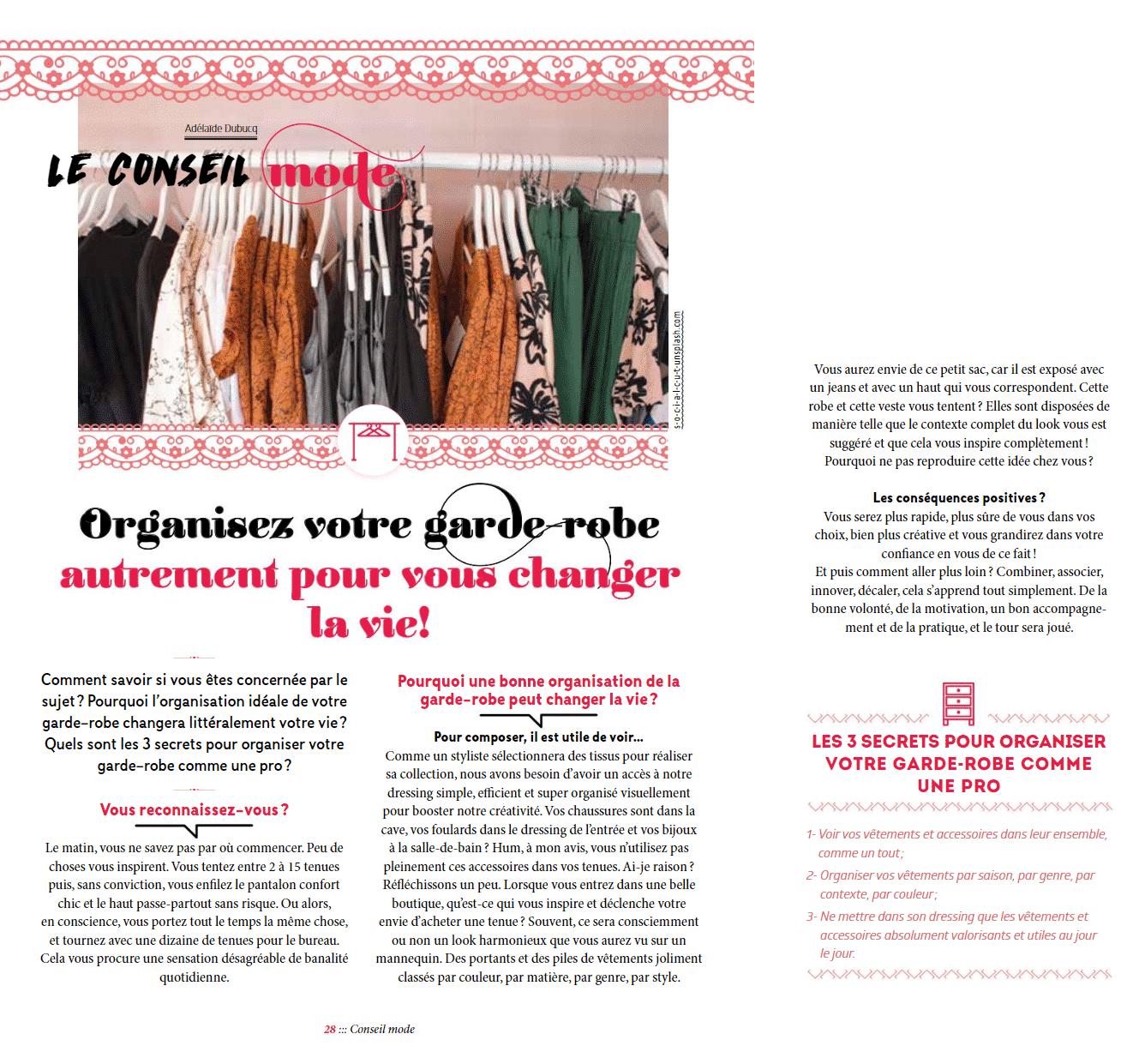 CONSEIL MODE 2019 Janette Magazine Luxembourg Adelaide Dubucq Organisez-votre-garde-robe-autrement-pour-vous-changer-la-vie Journaliste mode