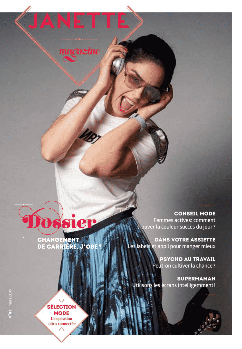 STYLISME PHOTO FEV 2019 Magazine Janette Luxembourg Adelaide Dubucq styliste photo cover et reportage mode Inspiration ultra connectée