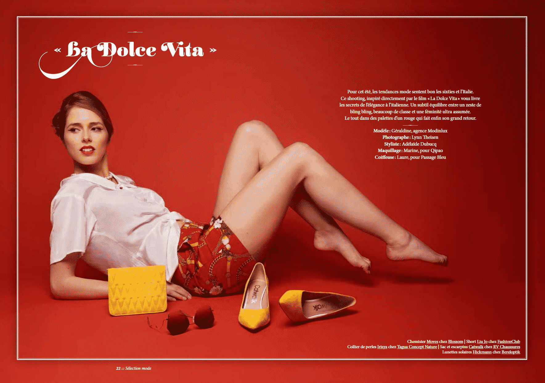 Dolce vita dossier mode Janette Magazine stylisme photo Adelaide Dubucq Luxembourg