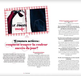 Magazine Janette Luxembourg Adelaide Dubucq Journaliste de mode Femmes actives comment trouver la couleur succès du jour